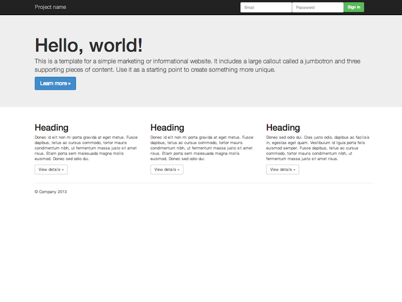 Getting Started Bootstrap