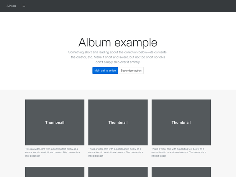 Examples  U00b7 Bootstrap