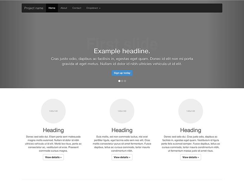 bootstrap example templates