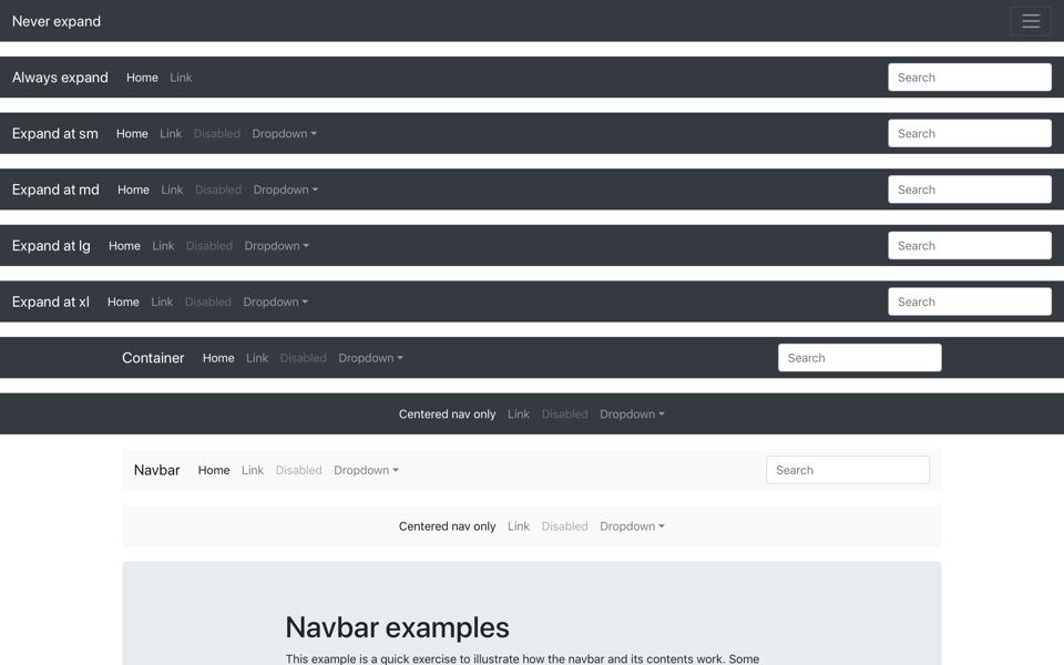 Navbar Template for Bootstrap