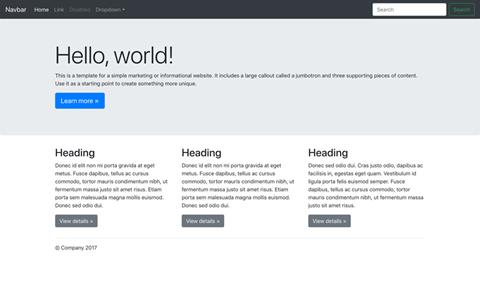Jumbotron Template Bootstrap