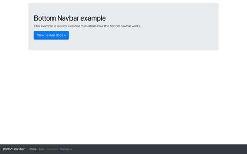 Navbar bottom ekran görüntüsü
