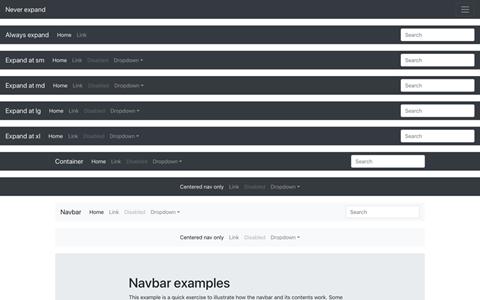 Navbars ekran görüntüsü